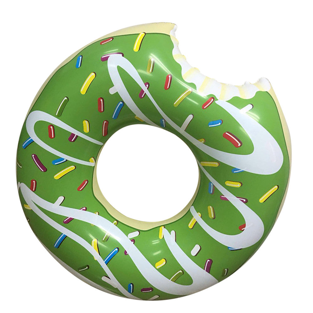 Inflatable Green Donut Pool Floats-5