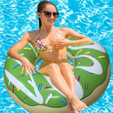 Inflatable Green Donut Pool Floats-2