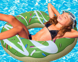 Inflatable Green Donut Pool Floats-3