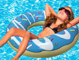 Inflatable Blue Donut Pool Floats-2