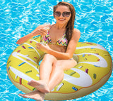 Inflatable Yellow Donut Pool Floats-1