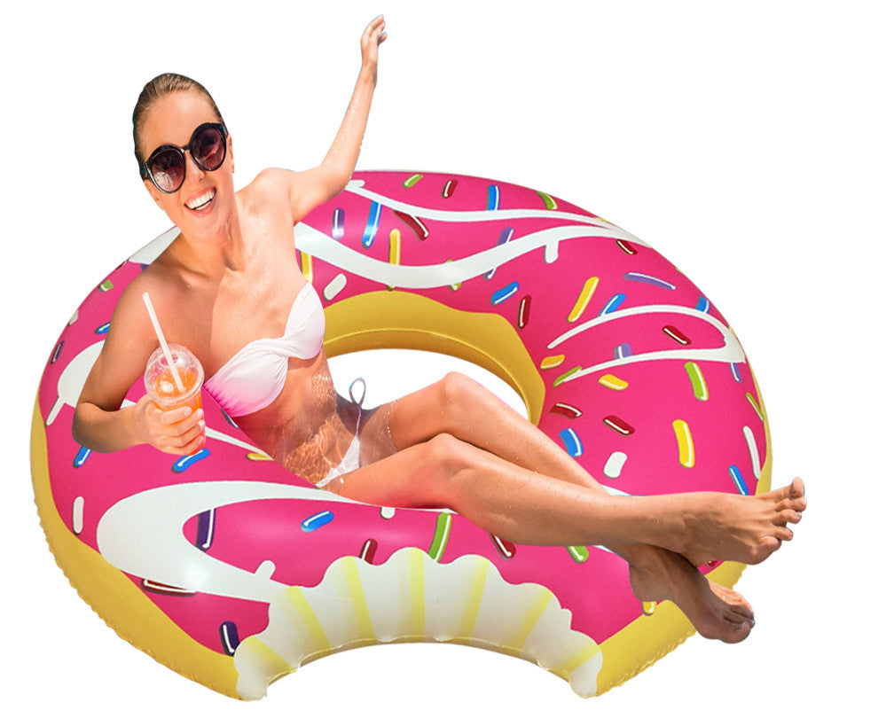 Inflatable Pink Donut Pool Floats-1