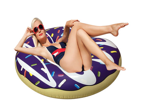 Giant Inflatable Donut Pool Floats Blue