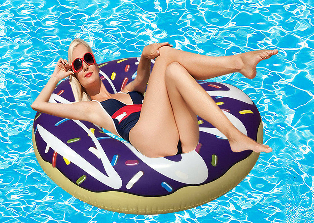 Inflatable Donut Pool Floats Purple-2