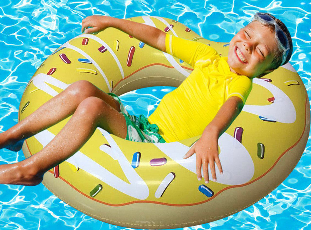 Inflatable Yellow Donut Pool Floats-3