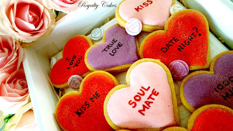 Message Love Heart Biscuits