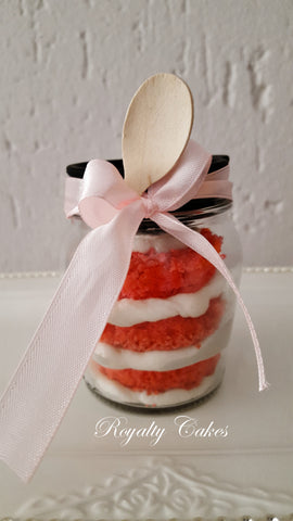 Red Velvet CupCake in a Jar 6 or 12