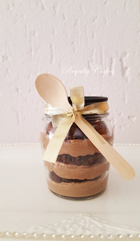 Nutella Chocolate CupCake in a Jar 6 or 12