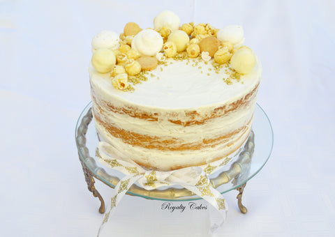 Caramel Pop Naked Cake