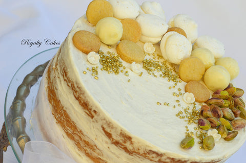 Pistachio Cream Naked Cake