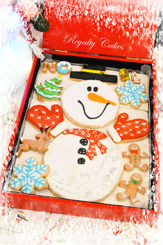 Xmas: Christmas Snowman Biscuits
