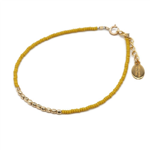 Glass Bead and Golden Section Bracelet - Chibi Jewels