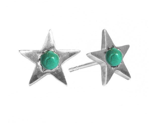 Turquoise Star Stud Earrings ,Turquoise Star Stud Earrings, Earrings, Chibi Jewels, Chibi Jewels - Chibi Jewels