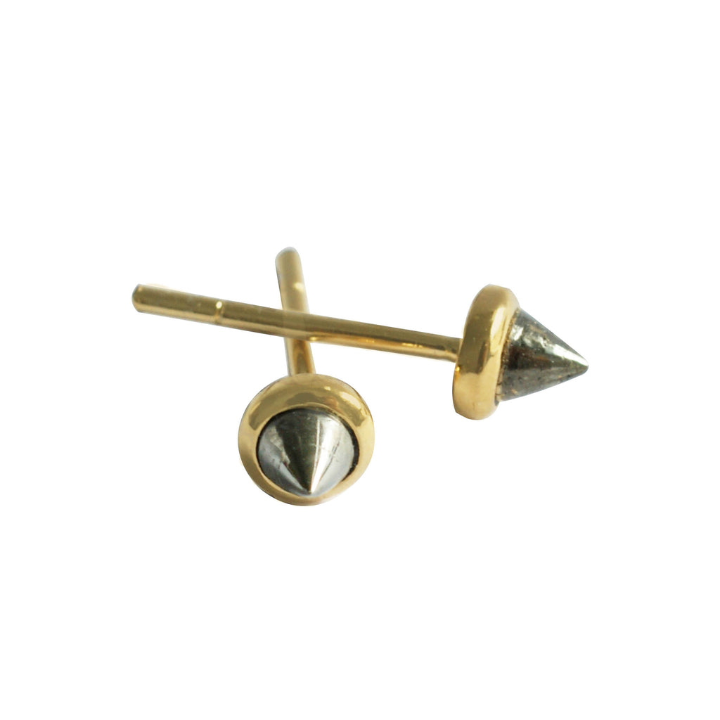 GEMSTONE CONE STUDS - Chibi Jewels