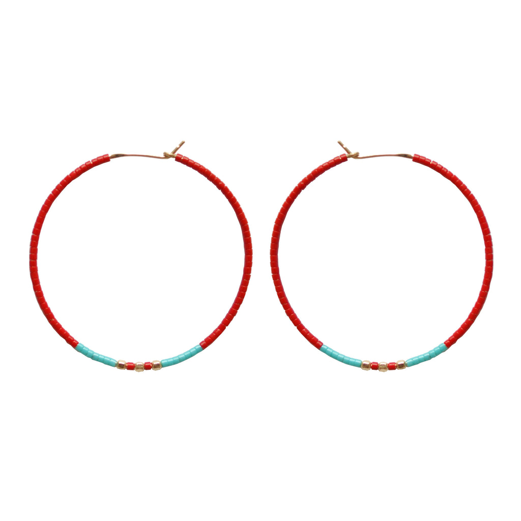 Festival Hoop Earrings ,Festival Hoop Earrings, Earrings, Chibi Jewels, Chibi Jewels - Chibi Jewels