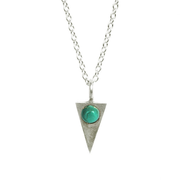 Turquoise Triangle Necklace ,Turquoise Triangle Necklace, Necklace, Chibi Jewels, Chibi Jewels - Chibi Jewels