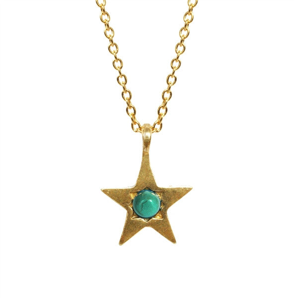 Turquoise Star Necklace ,Turquoise Star Necklace, Necklace, Chibi Jewels, Chibi Jewels - Chibi Jewels