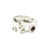 Gemstone Elephant Ring