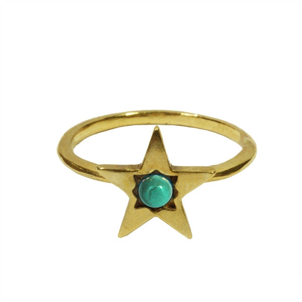 Turquoise Star Ring ,Turquoise Star Ring, Ring, Chibi Jewels, Chibi Jewels - Chibi Jewels