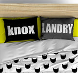 BOLD SIMPLE PERSONALIZED PILLOW SHAM (MULTIPLE COLOR OPTIONS)