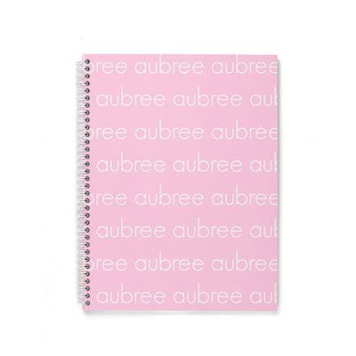LIGHT FONT SPIRAL NOTEBOOK