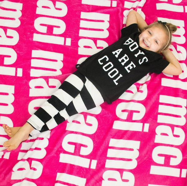 PERSONALIZED NAME BLANKET - BOLD (ALL COLOR OPTIONS ...