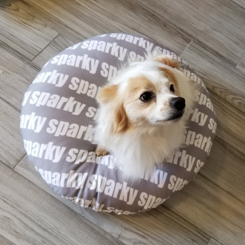 MODERN PERSONALIZED DOG / PET BED - BOLD FONT