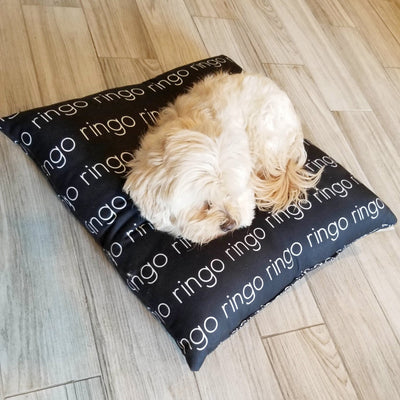 MODERN PERSONALIZED DOG BED / PET BED - LIGHT FONT