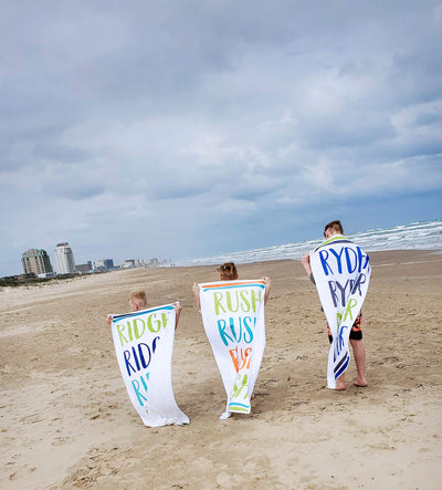 COLORFUL LINE UP PERSONALIZED TOWEL