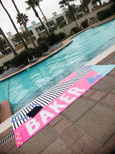 90'S GEOMETRIC PERSONALIZED TOWEL