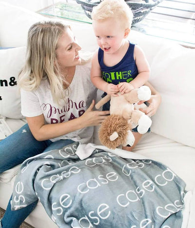 PERSONALIZED NAME BLANKET - LIGHT (ALL COLORS)