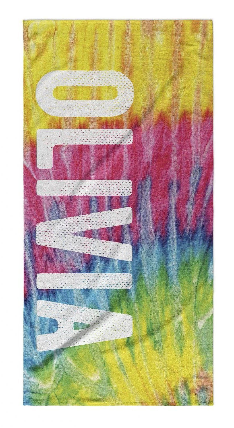 TIE DYE PERSONALIZED TOWEL