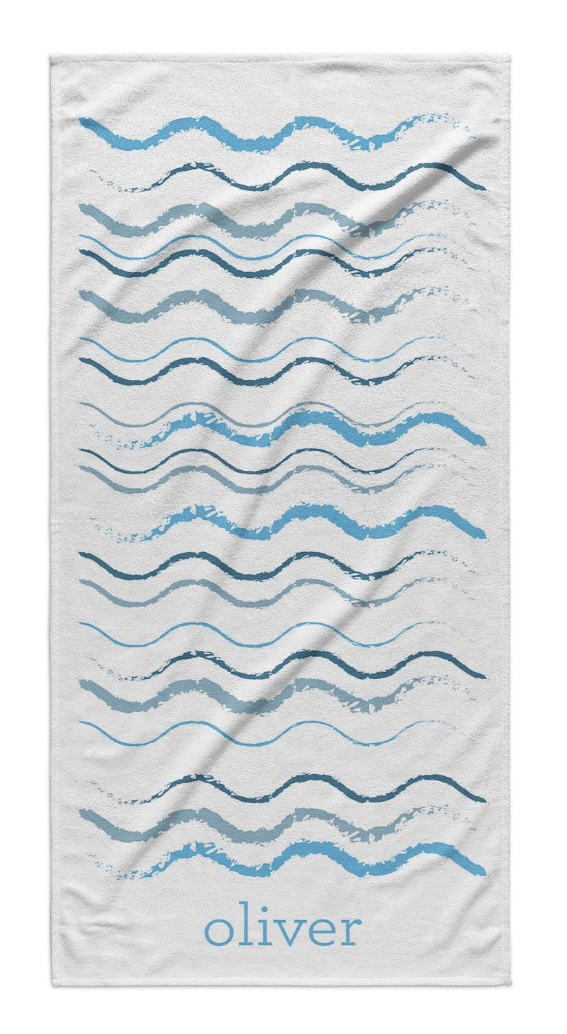 BEACH WAVES PERSONALIZED TOWEL