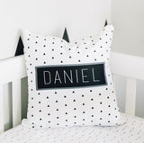 BLACK AND WHITE TRIANGLE PERSONALIZED THROW PILLOW (COVER ONLY)