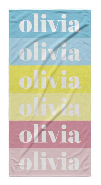 COLOR SWATCH PERSONALIZED TOWEL