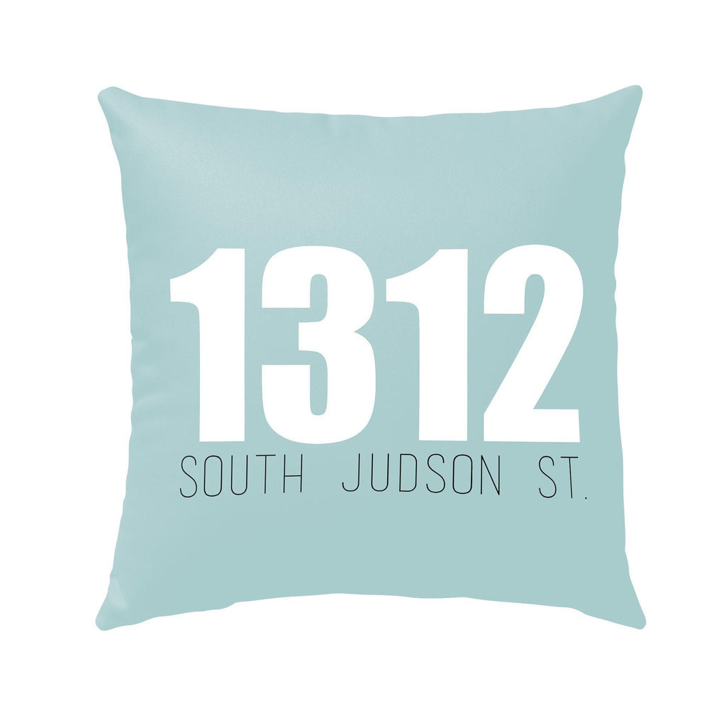 OUTDOOR ADDRESS PORCH PILLOW <SQUARE & LUMBER> (WINTER COLLECTION)