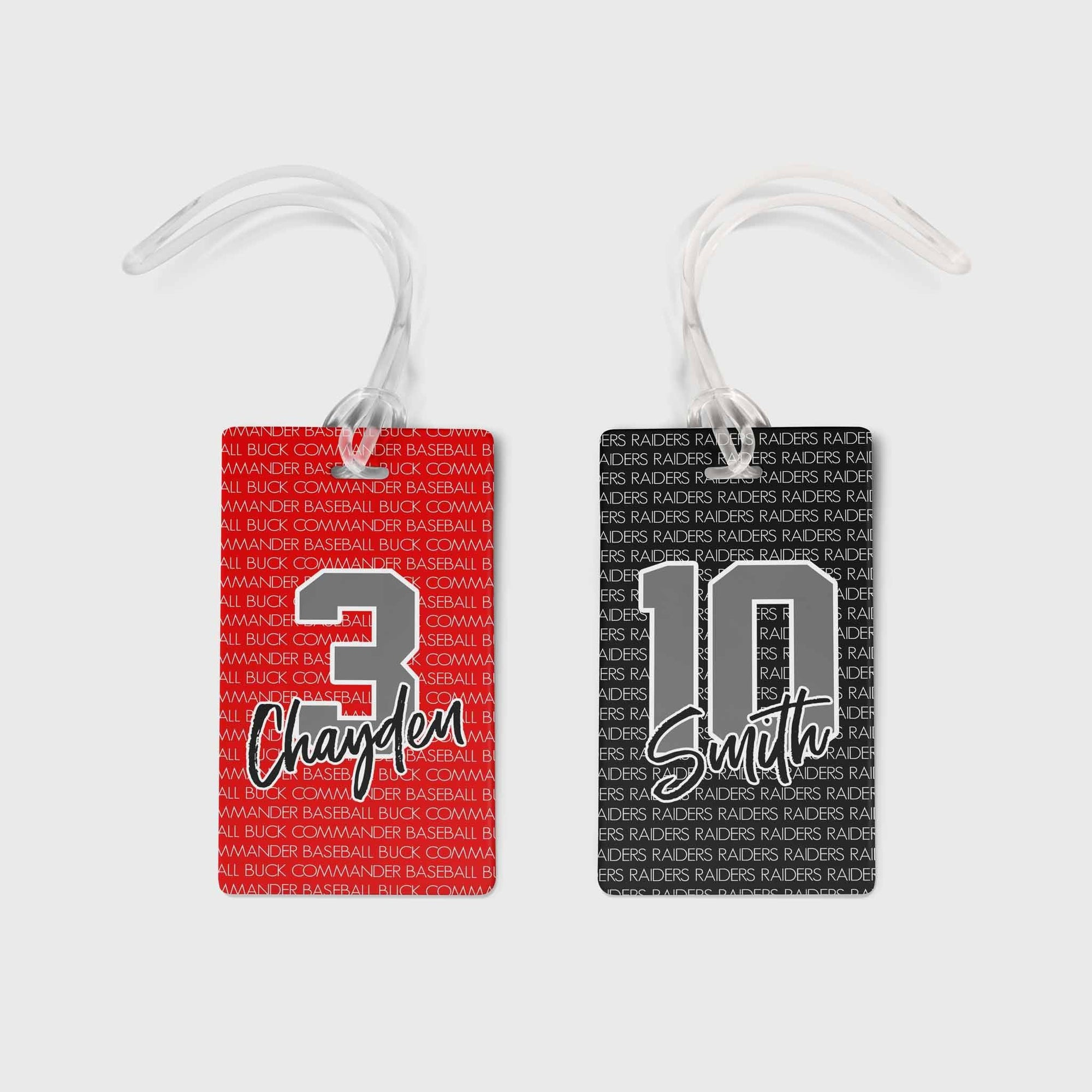 PERSONALIZED TEAM BAG TAG