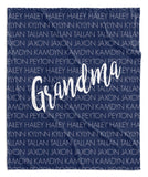FAMILY NAMES PERSONALIZED THROW BLANKET