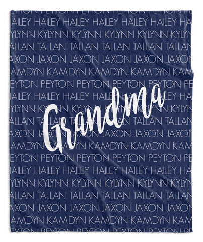 family names personalized throw blanket highway 3