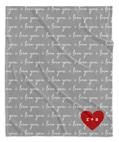 LOVE LETTERS PERSONALIZED BLANKET