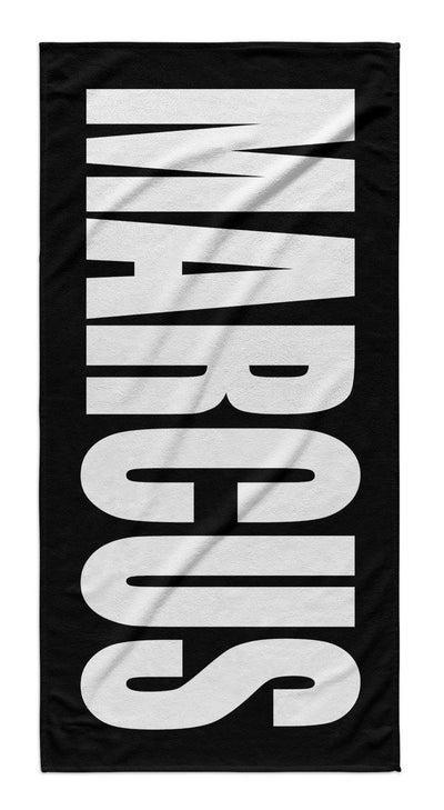 PERSONALIZED SOLID BOLD BEACH TOWEL