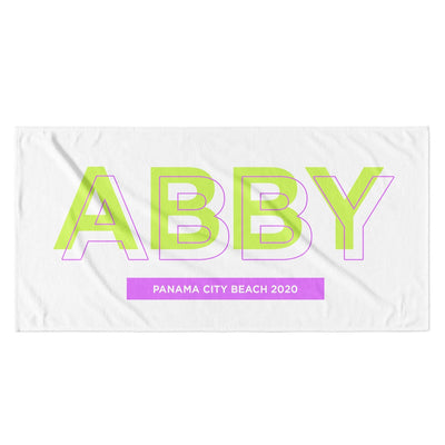 SHADOW BLOCK PERSONALIZED TOWEL