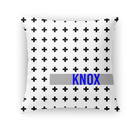 BLACK AND WHITE CROSS PERSONALIZED THROW PILLOW (COVER ONLY)