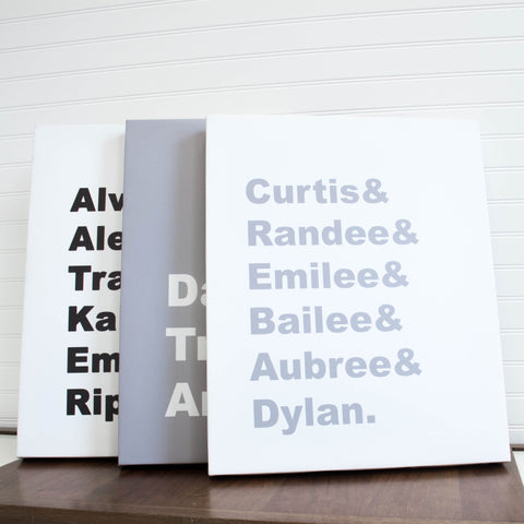 FAMILY NAME PERSONALIZED CANVAS