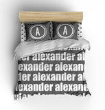 PERSONALIZED NAME COMFORTER - BOLD (MULTIPLE COLOR OPTIONS)