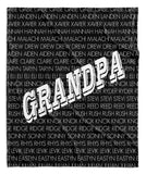 GRANDPA + GRANDKIDS THROW BLANKET