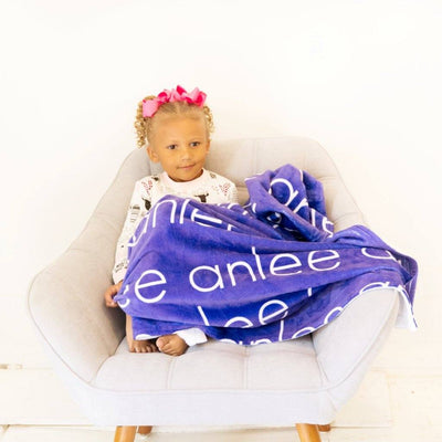 PERSONALIZED NAME BLANKET - LIGHT (ALL COLOR OPTIONS)