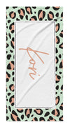ANIMAL PRINT BOX PERSONALIZED TOWEL