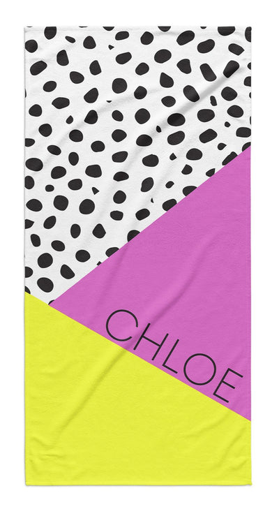 DALMATIAN COLOR BLOCK PERSONALIZED TOWEL