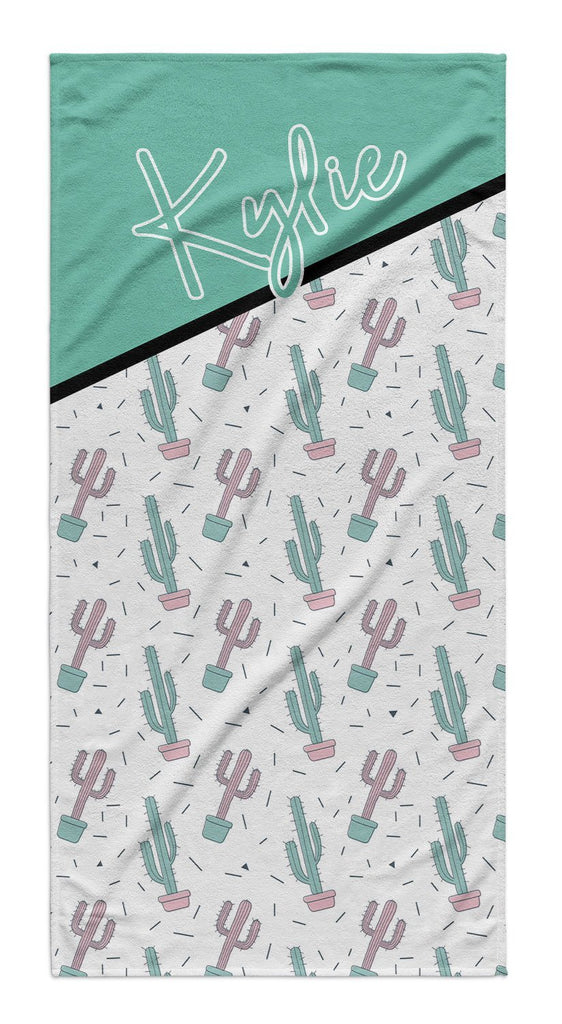 CACTUS COLORBLOCK PERSONALIZED TOWEL
